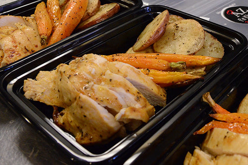 Chicken w/ Roasted Carrots & Potatoes