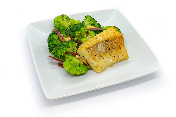 Pan-Seared Cod w/ Broccoli Crunch