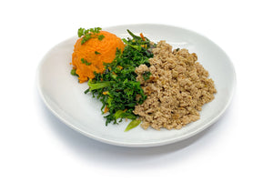 Ground Turkey w/ Sweet Potatoes & Kale