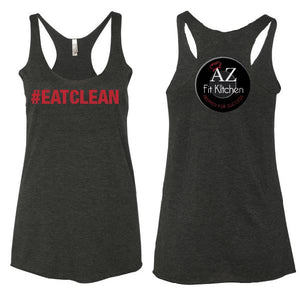 Womens Black Eat Clean Tank