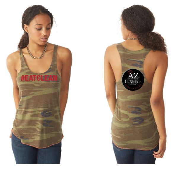 Womens Camo Eat Clean Tank