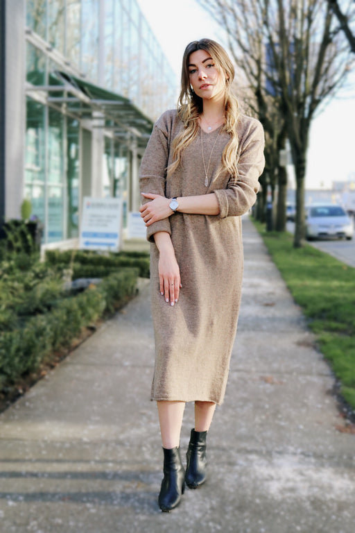 Wool dress sweater