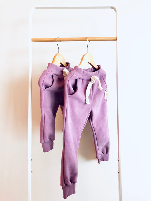 Mauve fleece lined pants