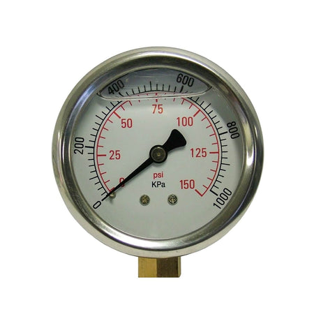 150 PSI Water Pressure Gauge- Suits Big Blue Whole House Housings