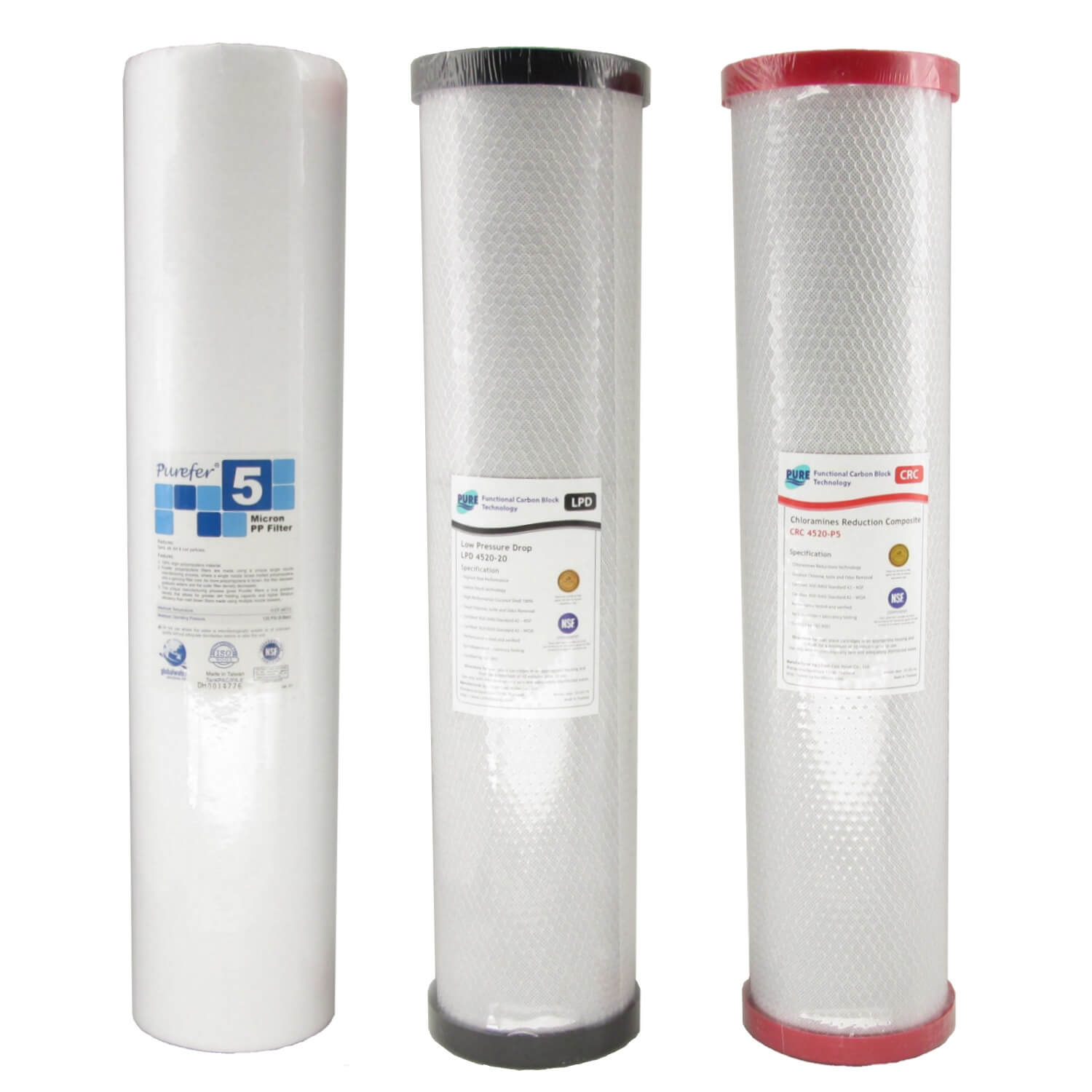 WaterMark Certified Big Blue Triple Whole House Water Filter System 20