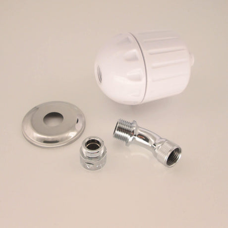 Wall Mount Bath Spout Kit - Sprite Shower Filter High Output - White