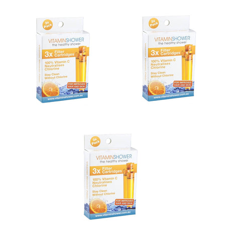 Original Earlier Model Cartridge 3 Pack of 3 Vitamin C Shower Filter Cartridges
