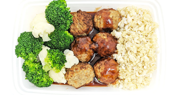 BBQ Meatballs | Broccoli & Cauliflower | Quinoa-Brown Rice Medley