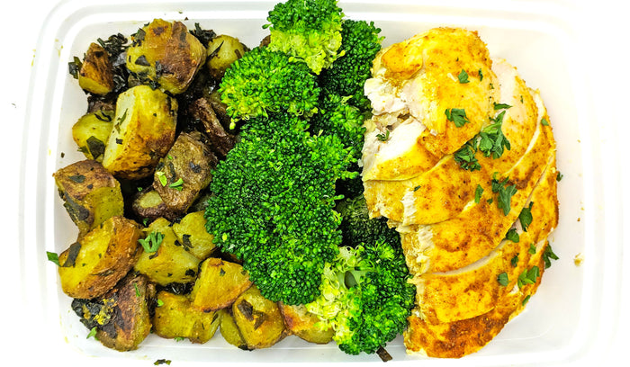 Indian Chicken Curry | Potato & Spinach | Broccoli