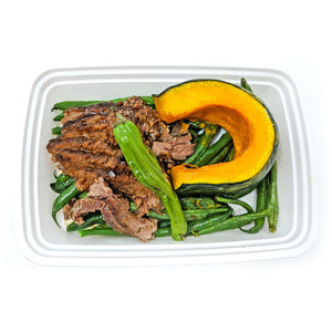 Korean BBQ Shredded Beef | Green Beans | Kobocha Squash