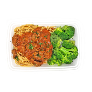 Turkey Bolognese on Whole Wheat Pasta | Broccoli