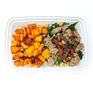 Turkey-Kale Bowl | Chickpea, Sun-Dried Tomato, Butternut Squash