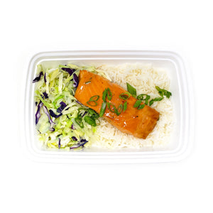 Apricot Glazed Salmon | Jasmine Rice | Chinese Cabbage