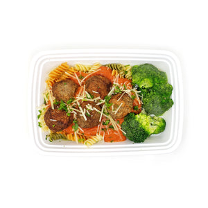 Rainbow Pasta w/ Meatballs & Vodka Sauce | Fresh Broccoli