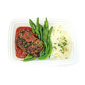 Turkey Meatloaf 2.0 | Garlic Green Beans | Lite Mashed Potato