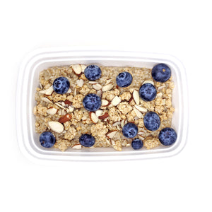 Steel-Cut Oats | Almond Granola & Blueberries