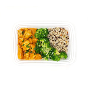 Coconut Red Curry Chicken (spicy) | Wild Rice | Sesame-Broccoli