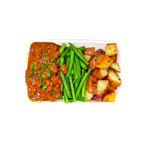 Naked Sloppy Joe's | Green Beans | Roasted Red Potatoes