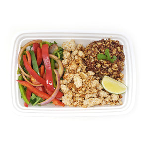 Turkey Fajita Bowl | Spanish Brown Rice-Quinoa Medley | Sweet Peppers & Onions