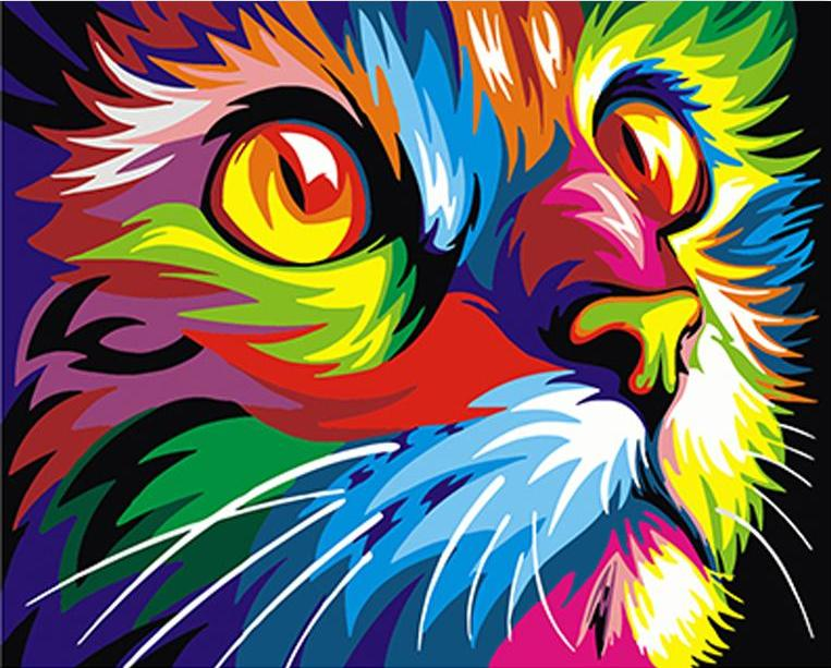 Colorful Cat (Paint By Numbers)