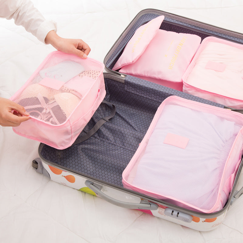 Breathable Packing Cubes Luggage Organizer (set of 6)