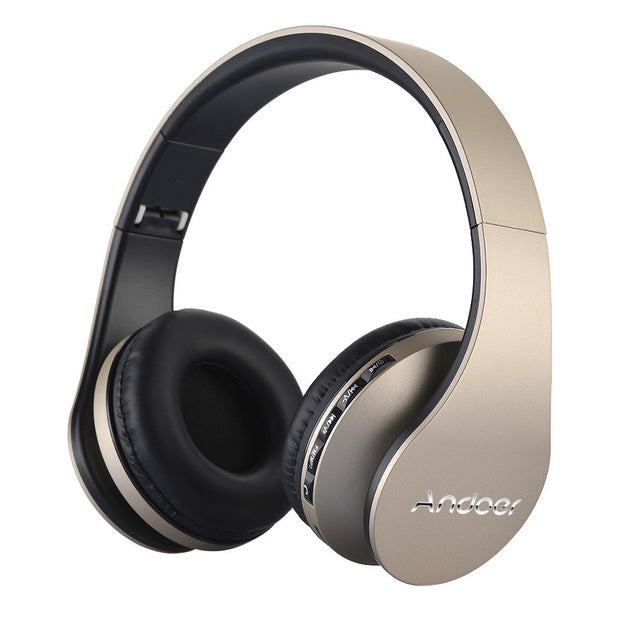 Bluetooth Wireless Over-Ear Headphones with Microphone and Volume Control