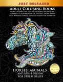 Adult Coloring Books For Men Women And Kids Motivational Inspirational Advanced Illustrations Of The Best Horse Pages With Mandala Flowers And Cute Designs For Relaxation - Top Brook