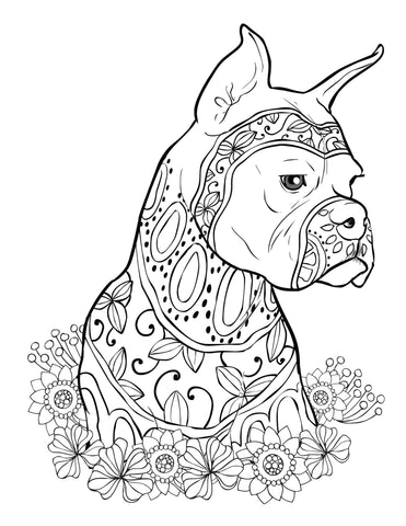 Adult Coloring Book Dogs: Relaxing Stress Relieving Designs Amazing ...