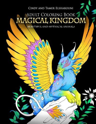Adult Coloring Book: Magical Kingdom: Beautiful and Mythical Animals - Top Brook