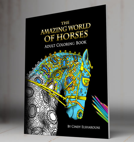 Amazing World of Horses Coloring Book Digital Download - Top Brook