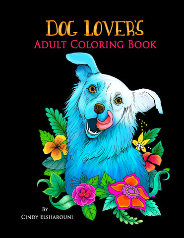 Dog Lover's Adult Coloring Book - Top Brook