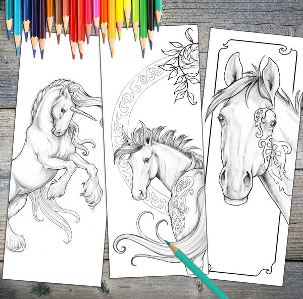 Beautiful Coloring Bookmark Set Digital Download - Top Brook
