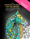 "The Amazing World Of Horses ""Midnight Edition"" Adult Coloring Book - Top Brook"