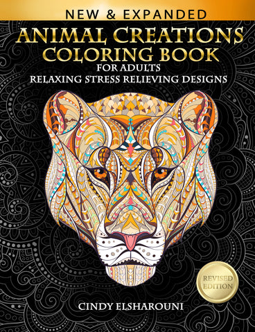 Animal Creations: Adult Coloring Book - Top Brook