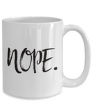 Nope mug - Top Brook