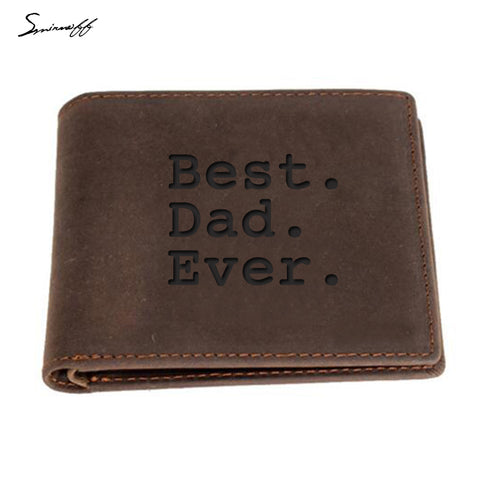 Handmade Genuine Leather Wallet For Dad - Top Brook