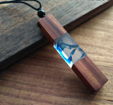 Enchanted Forest  Resin Wood Necklace - Top Brook