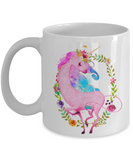 Pink Unicorn Mug - Top Brook