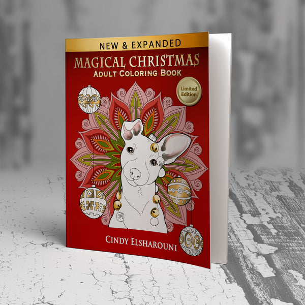 Magical Christmas Adult Coloring Book Digital Download - Top Brook