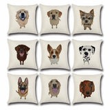 Dog Lovers Throw Pillow Cushion Cover - Top Brook