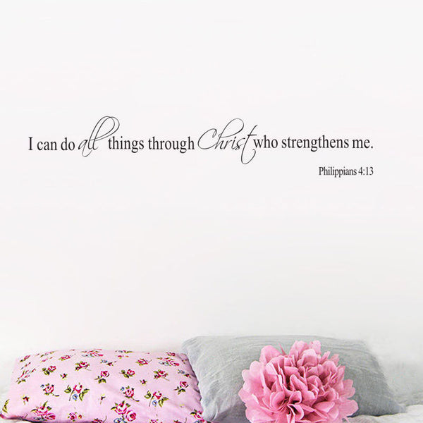I Can Do All Things Through Christ  Wall Decal - Top Brook
