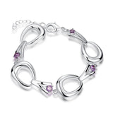 Silver Plated Horse Shoe Bracelet - Top Brook