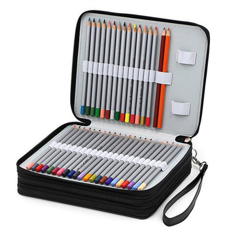 Chic 124 Slot Pencil Case Holder Organizer FREE SHIPPING