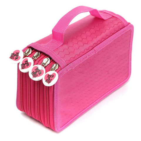 Chic 72 Slot Pencil Case Holder Organizer With Fun Zipper FREE SHIPPING!