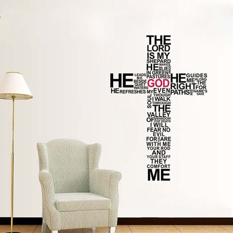 The Lord is my Shepherd Wall Decal Sticker FREE SHIPPING - Top Brook