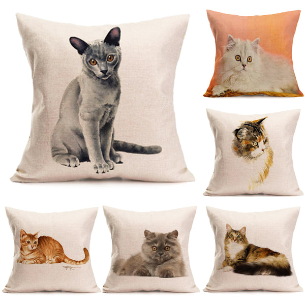 Cat Lover's Print Pillow Case Covers - Top Brook