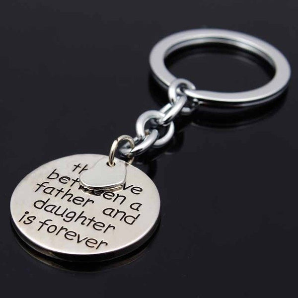 Love Between Father and Daughter Is Forever Keychain Gift - Top Brook