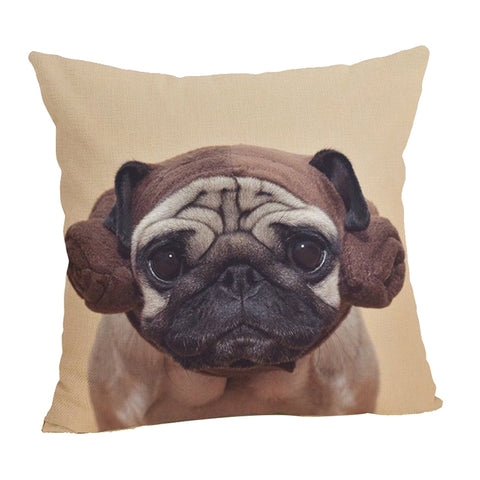 Cute Pug Print Pillow Case - Top Brook