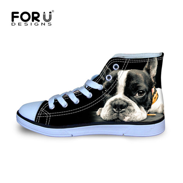 Pug High Top Shoes Men's Canvas Shoes - Top Brook