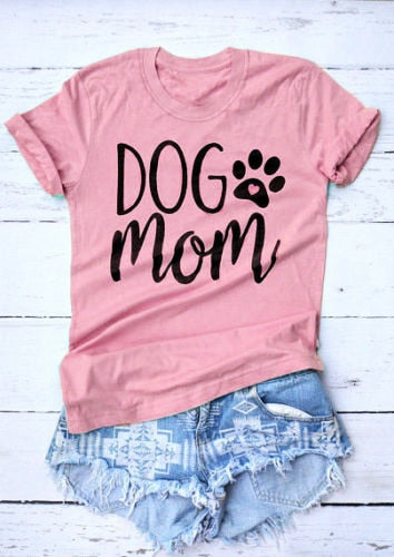 Dog Mom T-Shirt Dog - Top Brook